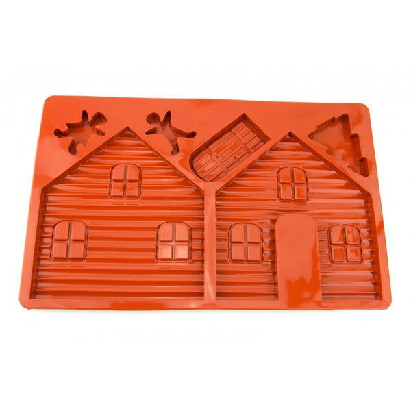GINGERBREAD HOUSE - SILICONE CHOCOLATE MOLD / FLEXIBLE BAKING MOULD