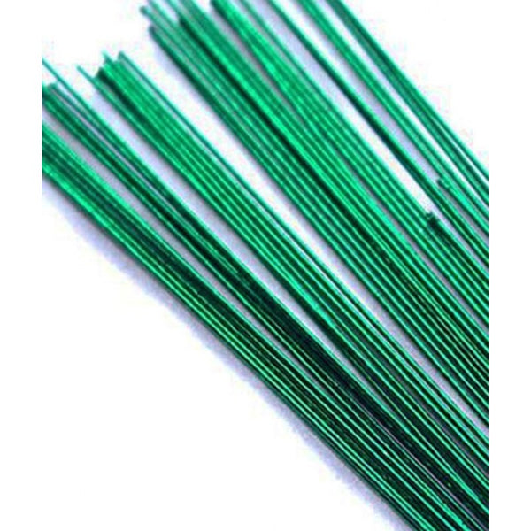 GREEN METALLIC - 24 GAUGE - FLORIST WIRE / FLOWER WIRES