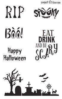 Halloween Words Stencil