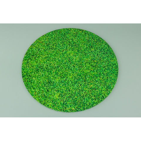 12inch - ROUND GRASS PATTERN MASONITE CAKE BOARD
