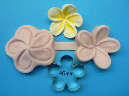 LARGE FRANGIPANI CUTTER & VEINER SET 40MM