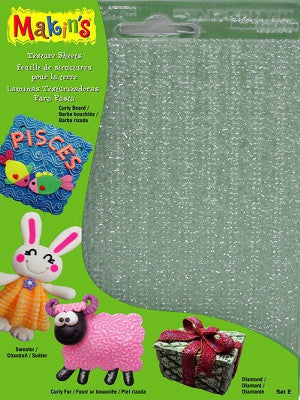 Makins Texture Sheets - Set E - Set of 4