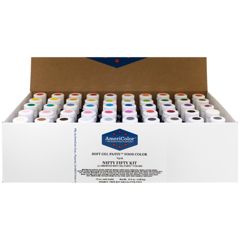 AMERICOLOR Gel Paste ULTIMATE SET NIFTY FIFTY- Pack of 50 - Americolour