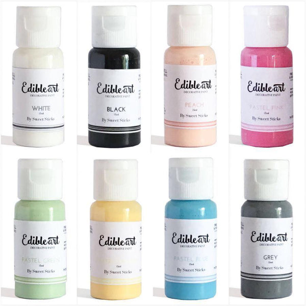 Sweet Sticks Edible Art Paint PASTEL 8 PACK 15ML