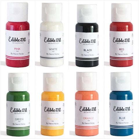 Sweet Sticks Edible Art Paint PRIMARY 8 PACK 15ML
