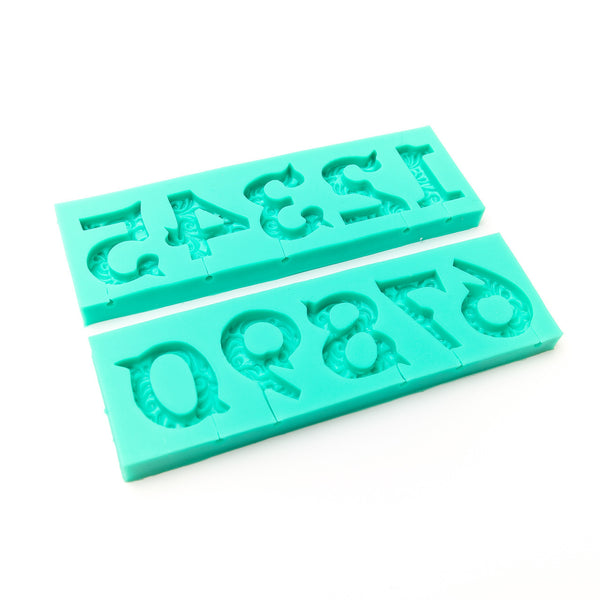 SILICONE MOULD - ORNATE NUMBERS