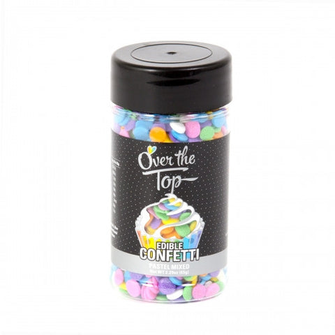 Over The Top Edible Confetti - Pastel -  Cake Decorating 65g - Gluten Free Sprinkles