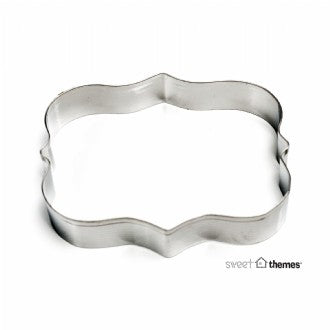 Plaque Rectangle Scroll Stainless Steel Cookie Cutter
