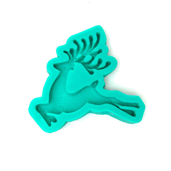 SILICONE MOULD - Prancing Reindeer
