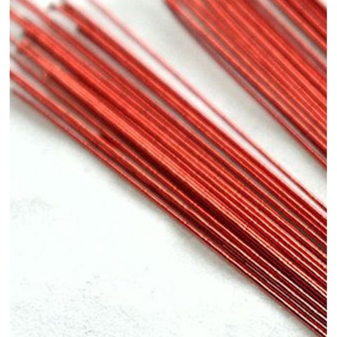 RED METALLIC - 24 GAUGE - FLORIST WIRE / FLOWER WIRES