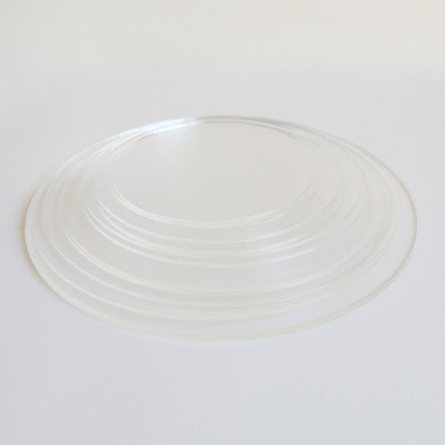 Round Acrylic Ganache Boards Lids - SET of 6