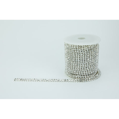 SILVER DIAMANTE CHAIN Double Row - 3.5MM