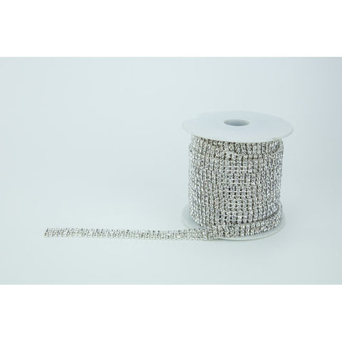 SILVER DIAMANTE CHAIN Triple Row