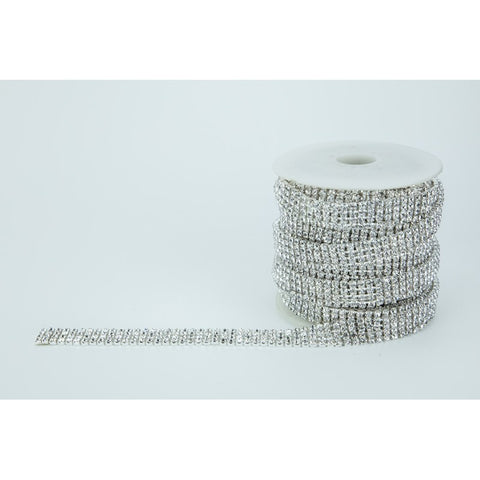SILVER DIAMANTE CHAIN Four Rows