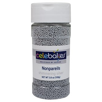 Shimmering Silver NonPareils- 108gm