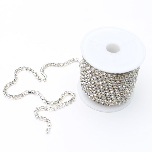 SILVER DIAMANTE CHAIN - 3.5MM