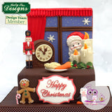 Happy Christmas Large Plaque Silicone Mould - Katy Sue Mould