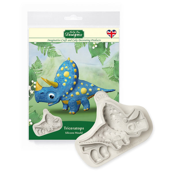 Triceratops Silicone Mould - Katy Sue Mould