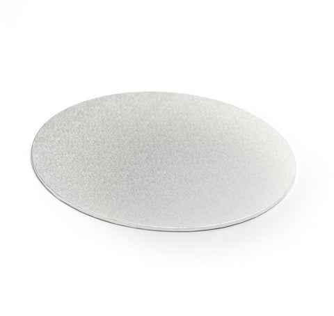 "6"" Round Silver Masonite Cake Board"
