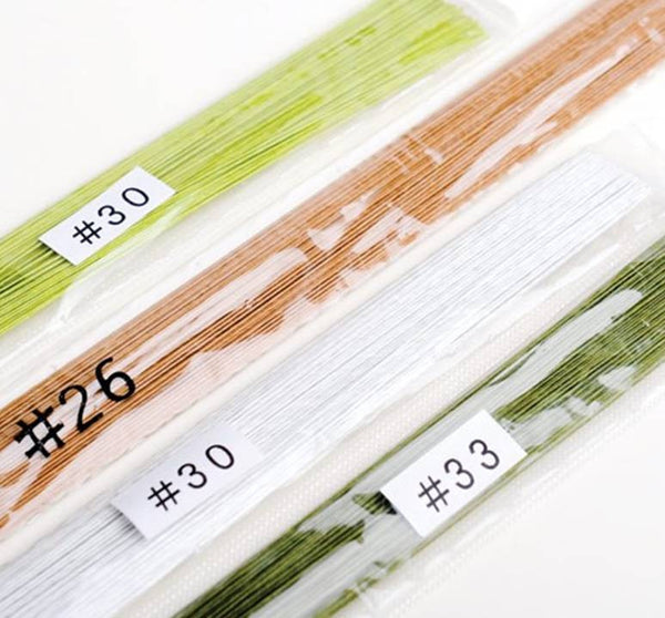 "#20 Flower Wire (Thick)- 14"" or 35cm long - Choose your Colour"