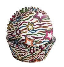 Zebra Stars Colorcups Baking Cups