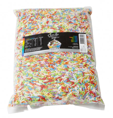Over The Top Rainbow Jimmies BULK- Cake Decorating 1KG - Gluten Free Sprinkles