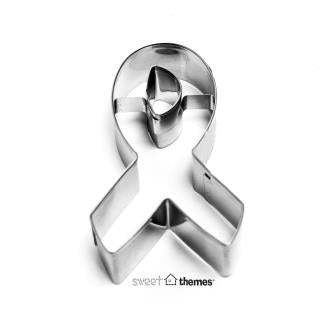 Awareness Ribbon Stainless Steel Cookie Cutter- % donated to the Cancer Council