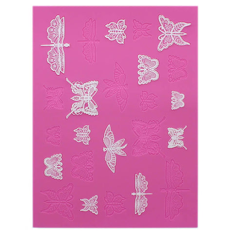 BEAUTIFUL BUTTERFLIES 3D CAKE LACE MAT - BY CLAIRE BOWMAN