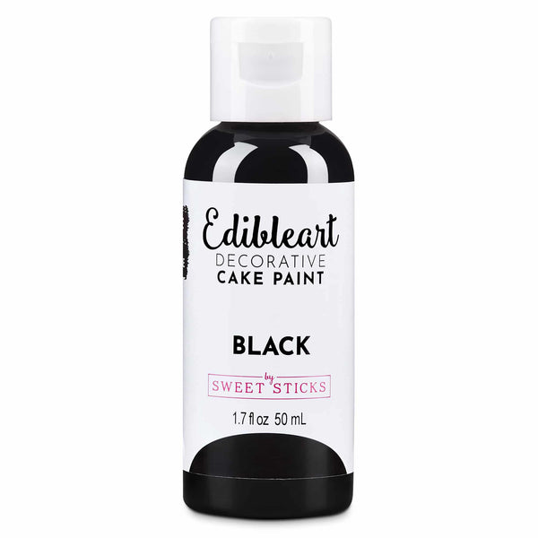 Sweet Sticks Edible Art Decorative Paint 50ml - BLACK