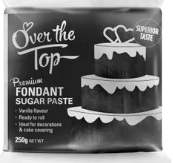 OVER THE TOP SUPER BLACK FONDANT 250GM