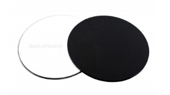 "8"" Round  LOYAL BLACK Masonite Cake Board"