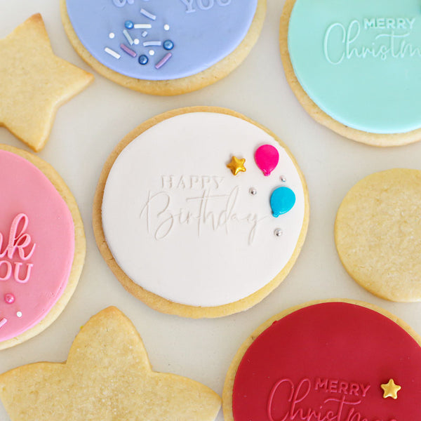 COOKIE EMBOSSER STAMP - HAPPY BIRTHDAY