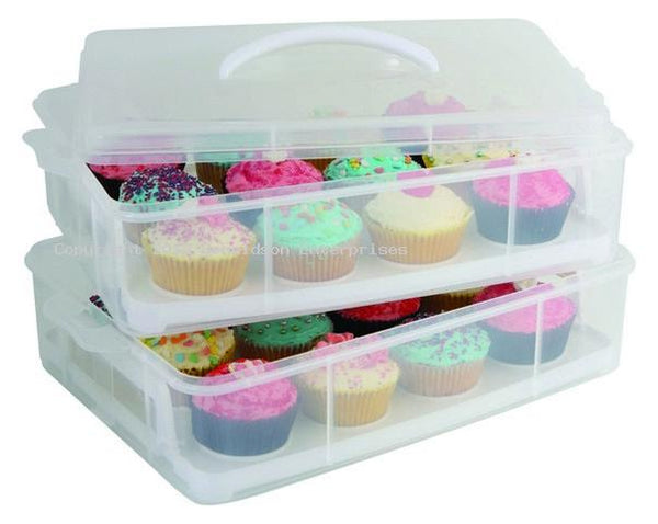 24 Cup Stackable Cupcake Carrier