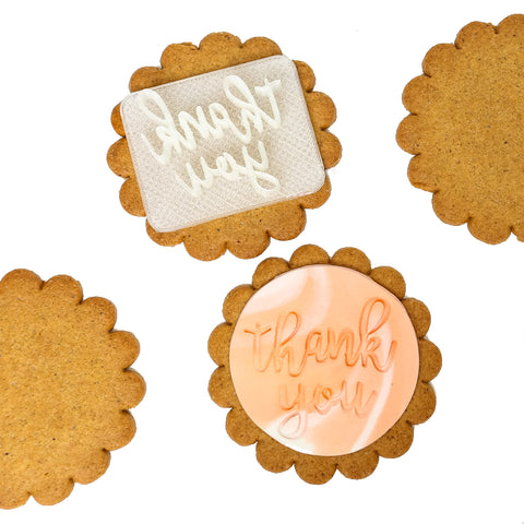 THANK YOU FONDANT EMBOSSER STAMP