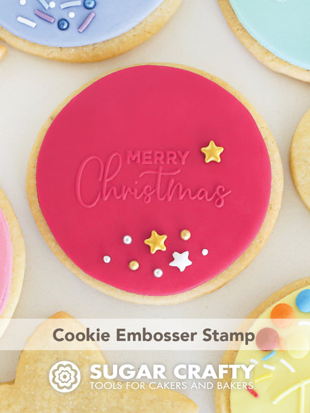 COOKIE EMBOSSER STAMP - MERRY CHRISTMAS 2