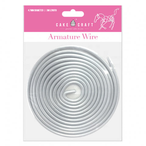 CAKE CRAFT | ARMATURE WIRE | 3.1MM DIAMETER | 6 METRE LENGTH