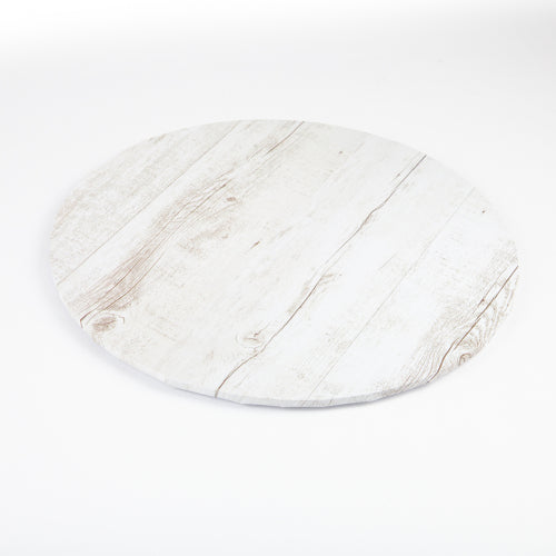 MONDO CAKE BOARD ROUND WHITE WOOD 8 IN/20CM 8""