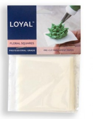 LOYAL PRE-CUT FLORAL  FLOWER SQUARES 65mm/2.5 inch