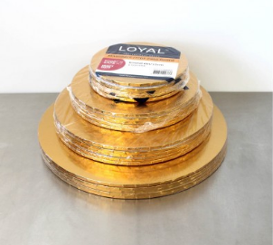 "10"" Round Gold Masonite Cake Board"