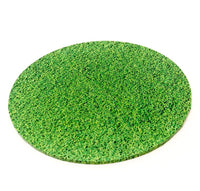 "14"" Round Printed Masonite Cake Board - Grass"