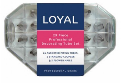 LOYAL DECORATING TUBE SET 29 Piece S/S
