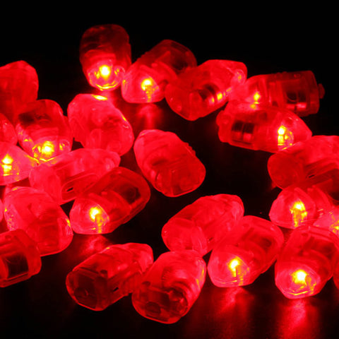 MINI LED PARTY LIGHTS (SET OF 4) - RED