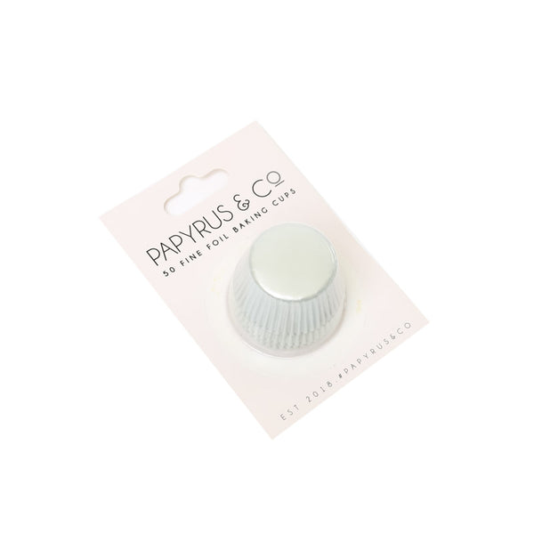 PAPYRUS MINI WHITE FOIL BAKING CUPS (50 PACK) - 35MM BASE