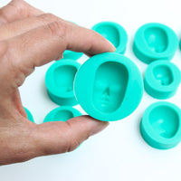 SILICONE MOULD FACES (SET 1) - SET OF 13