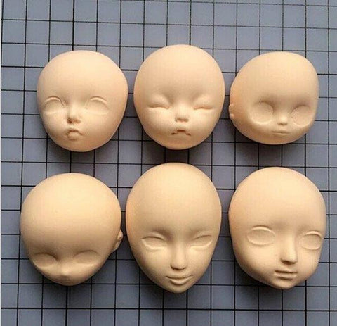 SILICONE MOULD FACES (SET 2) - SET OF 6
