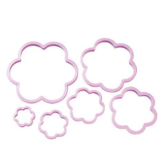 Nesting Flower Cookie Cutters 6 Pcs