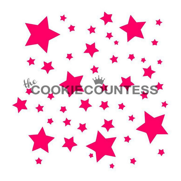 Night Sky Stars Stencil The Cookie Countess
