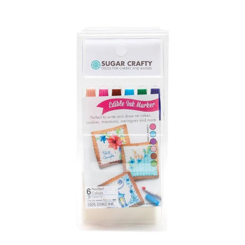 EDIBLE INK MARKERS (6 COLOURS) SET 2 - BY SUGAR CRAFTY**