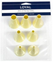 LOYAL PASTRY TUBE PP SET PLAIN 7-Set, 3-15mm