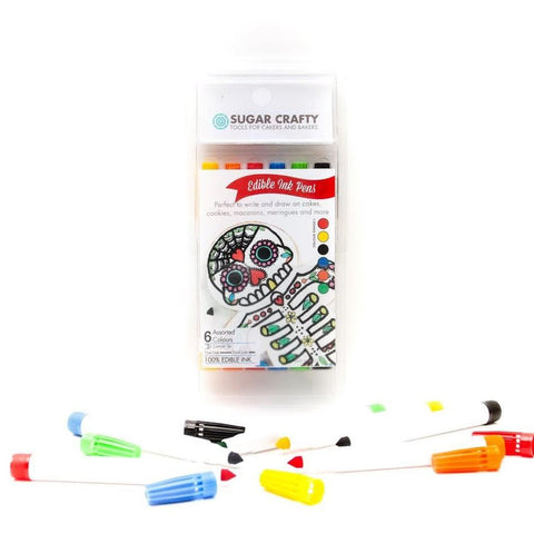 EDIBLE INK MARKERS (6 COLOURS) SET 1 - BY SUGAR CRAFTY**